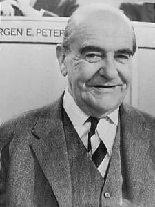Per Federspiel var Selskabets første formand. Her til møde med Europarådet. Foto: Society for the Nationaal Archief - Den Haag